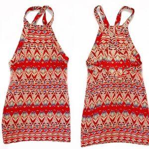 MILLAU LF Red AZTC  Dress NWT